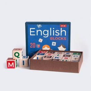 Engleska slovarica drvene kocke