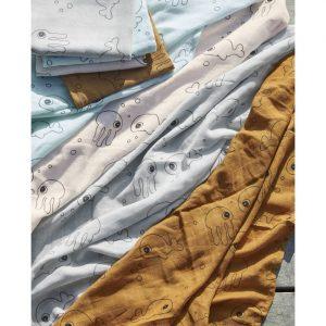 Done by Deer - Komplet pelena za previjanje, Sea Friends, Grey 120x120 cm