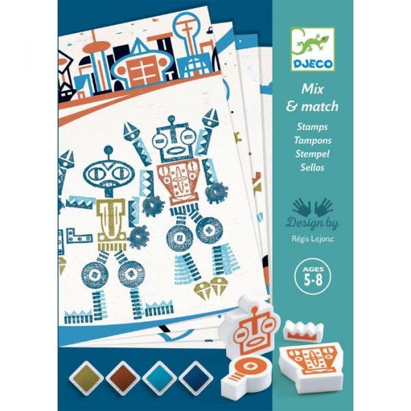 Djeco Set sa štambiljima - Roboti (1)